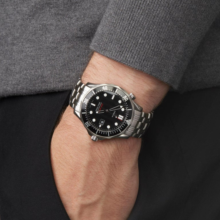 Omega Seamaster Stainless Steel 21230416101001 Wristwatch For Sale 4