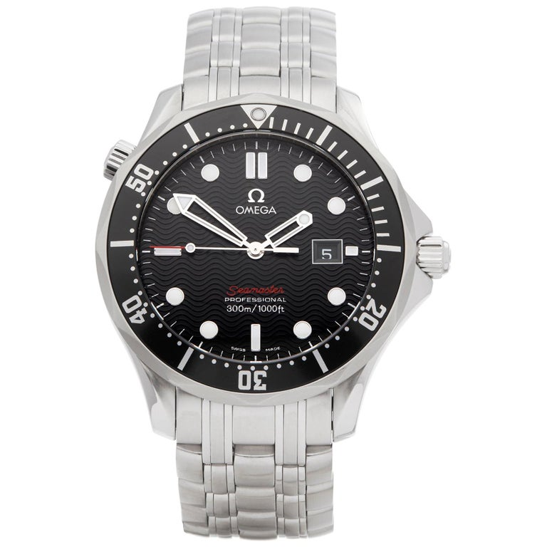 Omega Seamaster Stainless Steel 21230416101001 Wristwatch For Sale