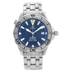 Omega Seamaster Stainless Steel Blue Wave Dial Automatic Men's Watch 2231.80.00