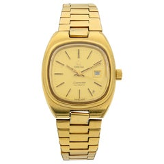 Omega Seamaster Stainless Steel Gold Dial Automatic Ladies Watch 566.00.88