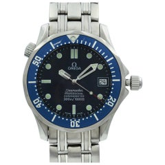 Omega Seamaster Steel Blue Wave Dial Automatic Midsize Watch 2551.80.00