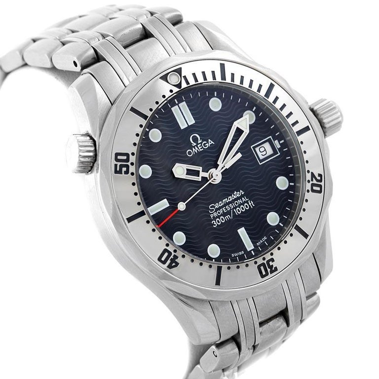 Omega Seamaster Steel Midsize 300 m Men's Watch 2562.80.00 Card For Sale 1
