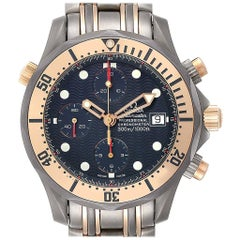 Omega Seamaster Titanium 18 Karat Rose Gold Men's Watch 2296.80.00