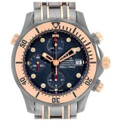 Omega Seamaster Titanium Rose Gold Men's Watch 2296.80.00 Box Card