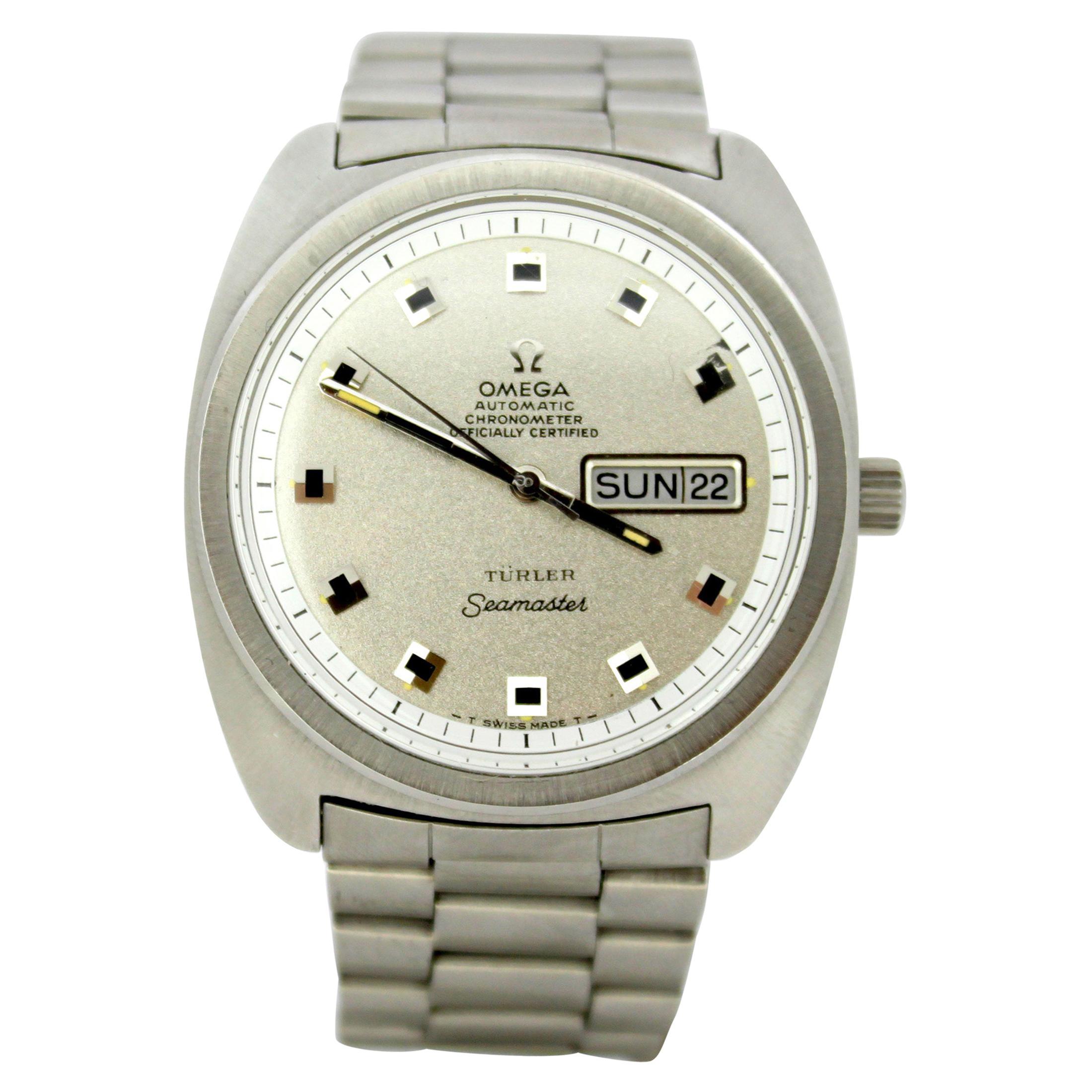 Omega Seamaster Turler, Men's Automatic Steel Wristwatch circa 1967