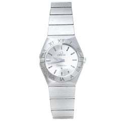 Omega Silver Stainless Steel Constellation 123.10.24.60.02.001  Wristwatch