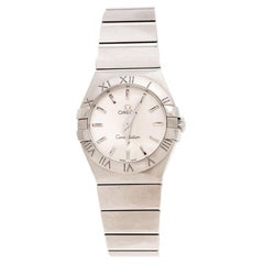 Omega Silver Stainless Steel Constellation Women's Wristwatch 27 mm