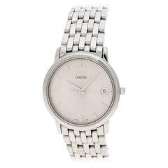 Omega Silver Stainless Steel De Ville  Men's Wristwatch 34 mm