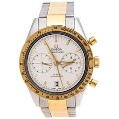 Omega Silver White 18K Yellow Gold Speedmaster '57 Men's Wristwatch 41.50 mm