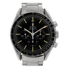 Omega Speedmaster 145022-68ST, Black Dial, Certified and Warranty
