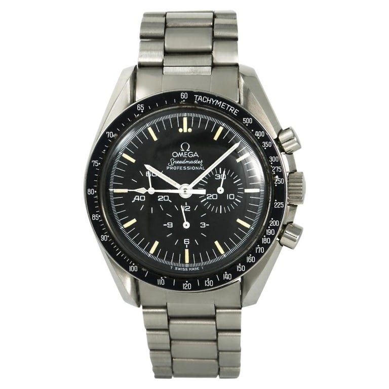 Omega Speedmaster 145.022.78, Black Dial, Certified and Warranty For Sale