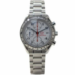 Omega Speedmaster 323.10.40.40.04.001 with Stainless-Steel Bezel and White Dial