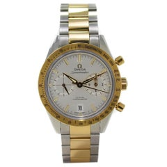 Omega Speedmaster 331.20.42.51.02.001 with Yellow-Gold Bezel and Silver Dial
