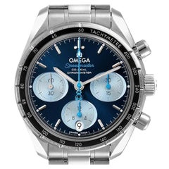 Omega Speedmaster 38 Orbis Blue Dial Mens Watch 324.30.38.50.03.002 Box Card