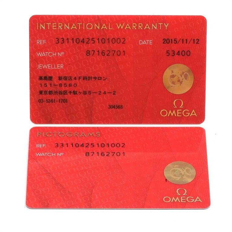 Omega Speedmaster 57 Broad Arrow Watch 331.10.42.51.01.002 Box Card For Sale 6