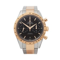 Omega Speedmaster 57' Stainless Steel & 18k Rose Gold 33120425101002 Wristwatch