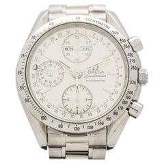 Omega Speedmaster Automatic Calendar Stainless Steel Watch, 1995