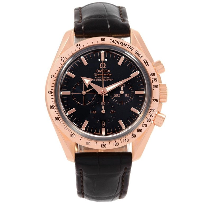Omega Speedmaster Broad Arrow Rose Gold Men S Watch 3653 80 33 For