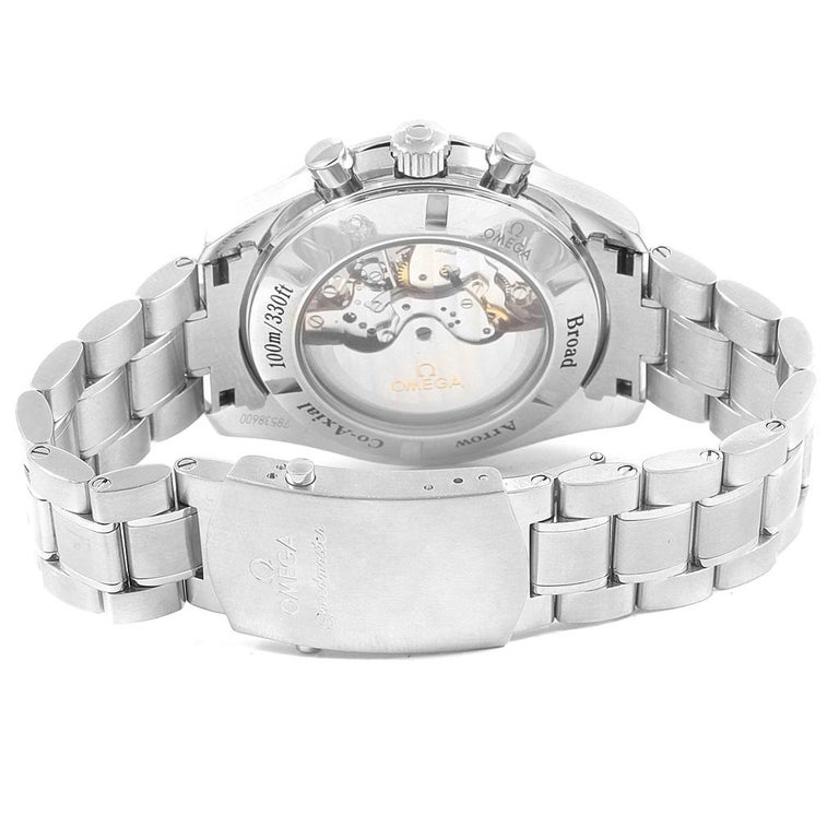 Omega Speedmaster Broad Arrow Silver Dial 321.10.44.50.02.001 Box For Sale 3