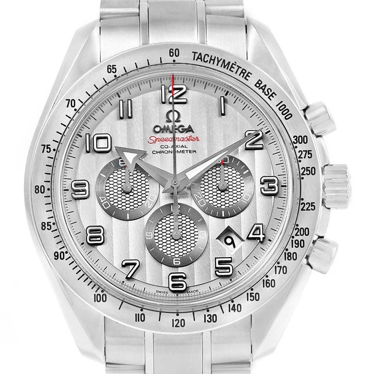 Omega Speedmaster Broad Arrow Silver Dial 321.10.44.50.02.001 Box For Sale 4