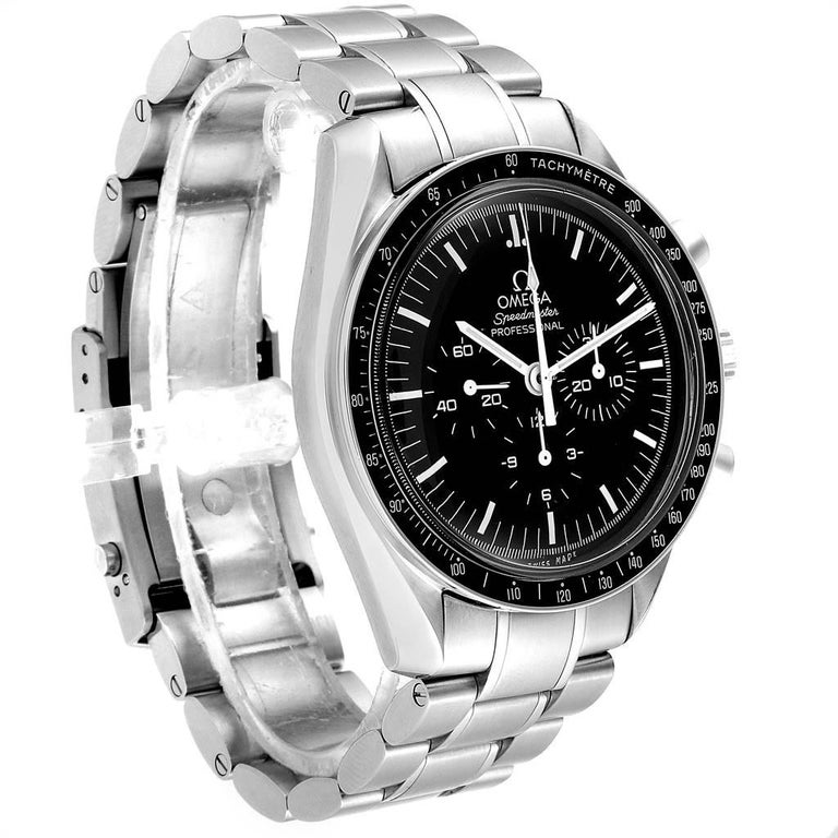 Omega Speedmaster Chronograph Black Dial Men's MoonWatch 3570.50.00 In Excellent Condition In Atlanta, GA