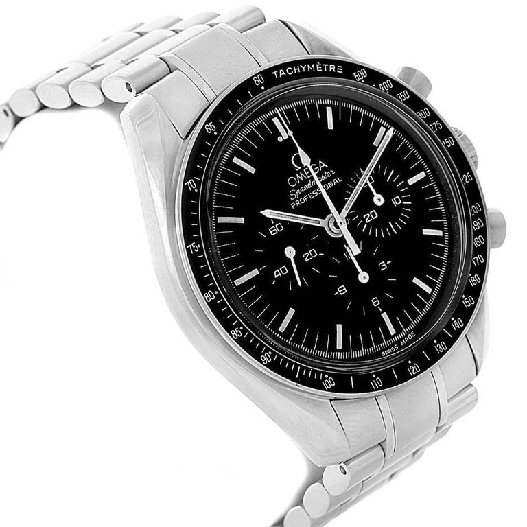 Omega Speedmaster Chronograph Black Dial Men's MoonWatch 3570.50.00 For Sale 3