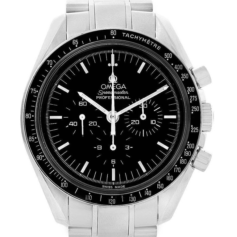 Omega Speedmaster Chronograph Black Dial Men's MoonWatch 3570.50.00 For Sale 4