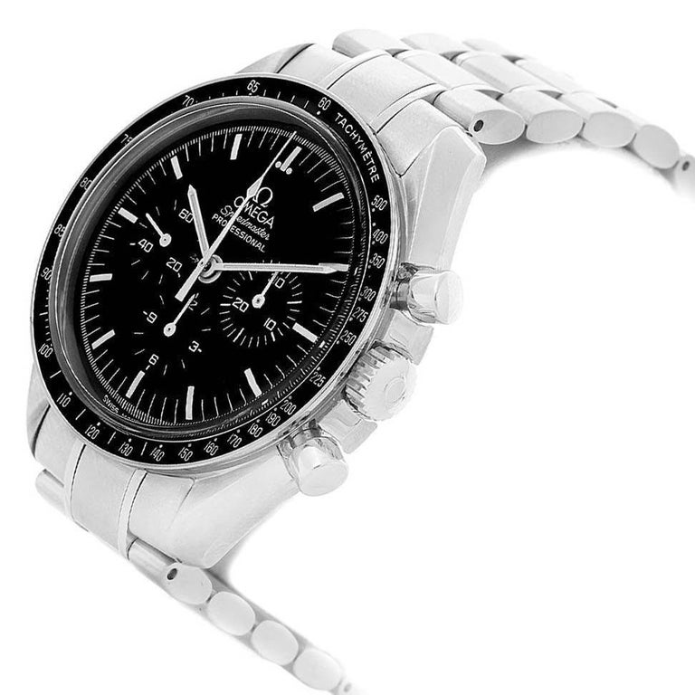 Omega Speedmaster Chronograph Black Dial Men's MoonWatch 3570.50.00 For Sale 5
