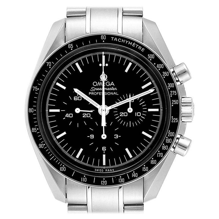 Omega Speedmaster Chronograph Black Dial Men's MoonWatch 3570.50.00