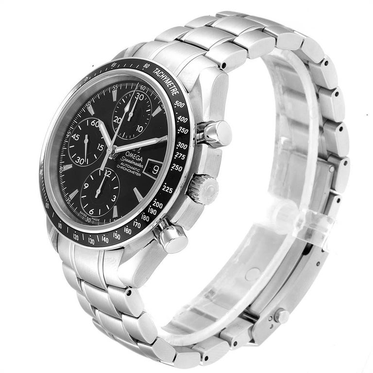 Omega Speedmaster Chronograph Black Dial Men's Watch 3210.50.00 Cards 1