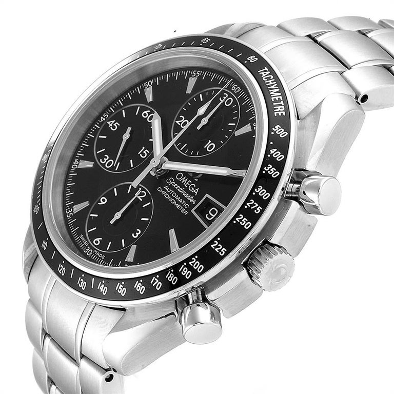 Omega Speedmaster Chronograph Black Dial Men's Watch 3210.50.00 Cards 2