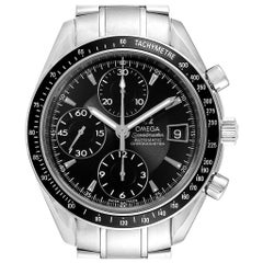 Omega Speedmaster Chronograph Black Dial Men's Watch 3210.50.00 Cards
