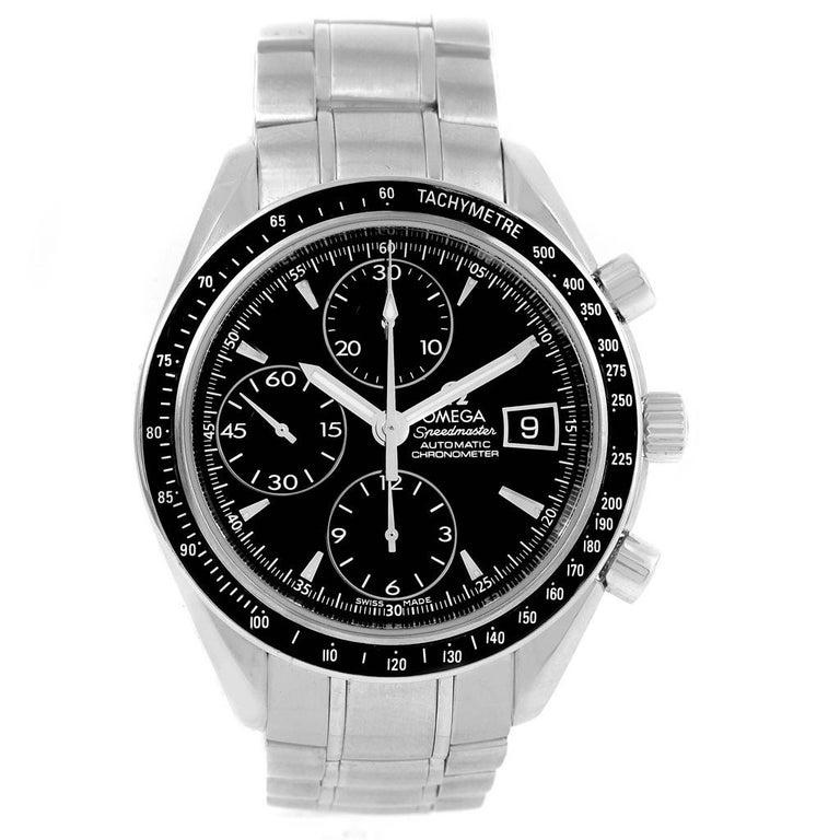 Omega Speedmaster Chronograph Steel Men's Watch 3210.50.00 In Excellent Condition For Sale In Atlanta, GA
