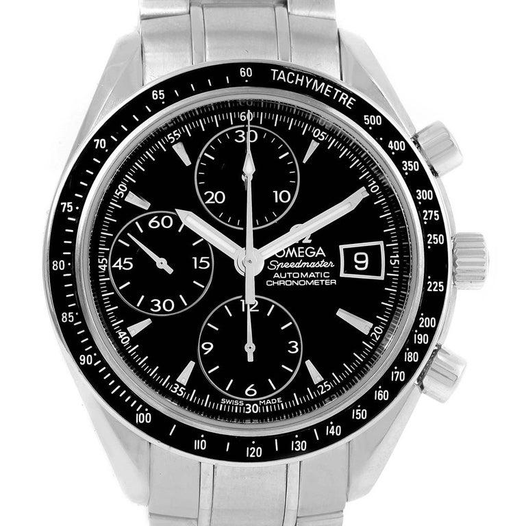 Omega Speedmaster Chronograph Steel Men's Watch 3210.50.00 For Sale 2