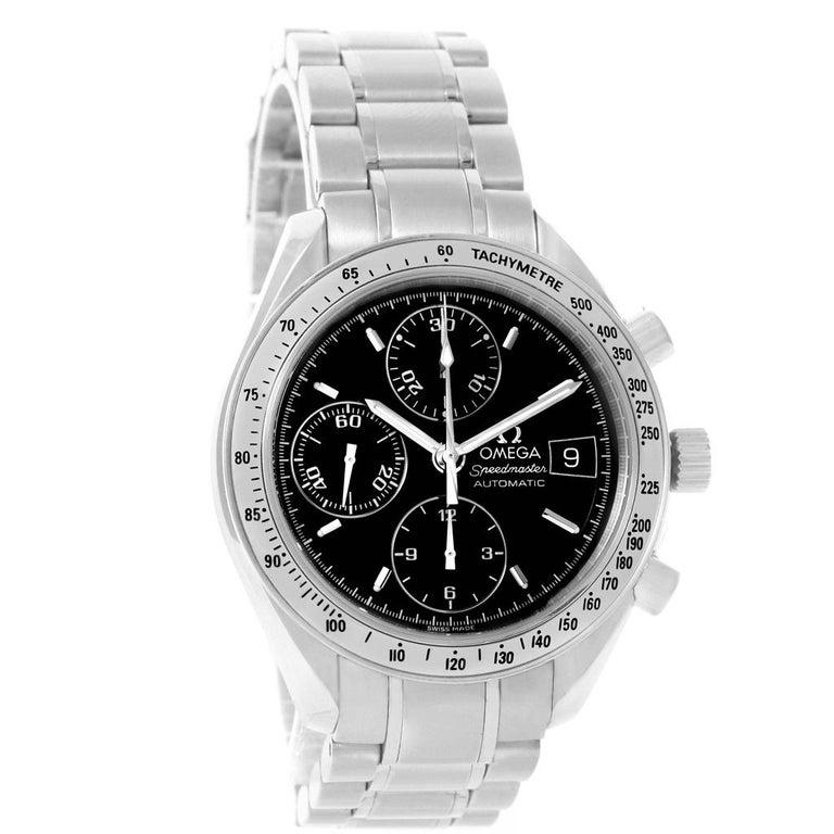 Omega Speedmaster Date Black Dial Steel Men's Watch 3513.50.00 In Excellent Condition For Sale In Atlanta, GA