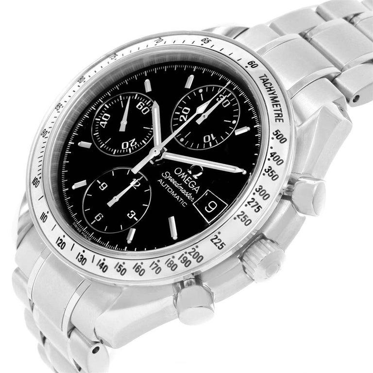Omega Speedmaster Date Black Dial Steel Men's Watch 3513.50.00 For Sale 1