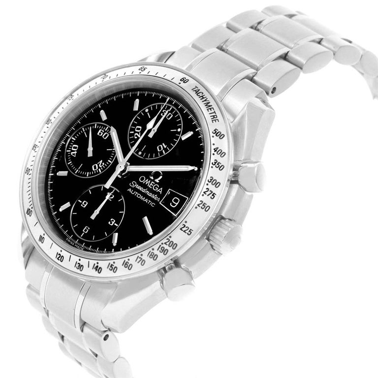 Omega Speedmaster Date Black Dial Steel Men's Watch 3513.50.00 For Sale 2