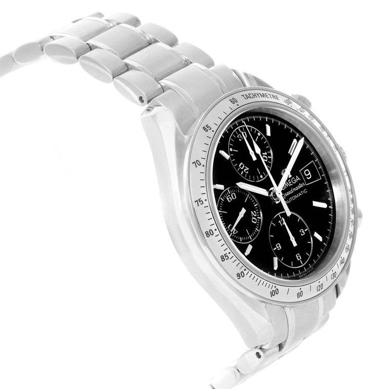Omega Speedmaster Date Black Dial Steel Men's Watch 3513.50.00 For Sale 3