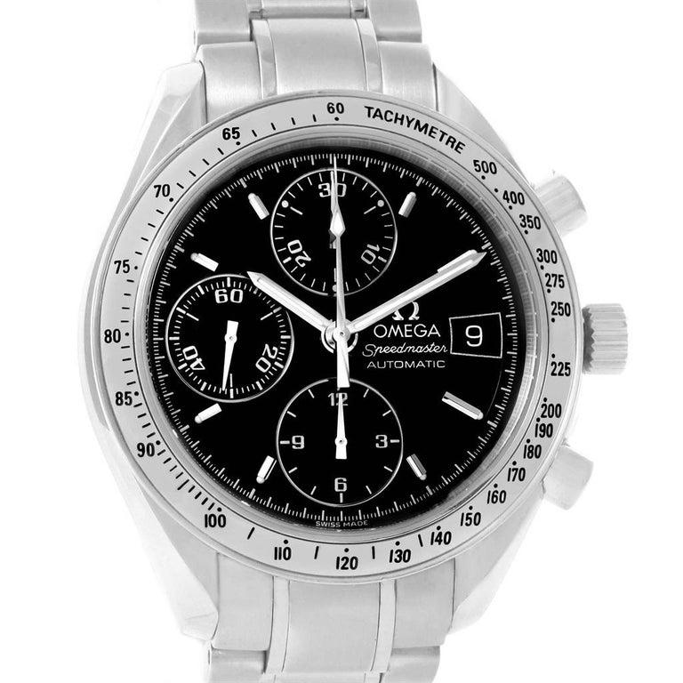 Omega Speedmaster Date Black Dial Steel Men's Watch 3513.50.00 For Sale