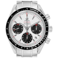 Omega Speedmaster Date Panda Dial Watch 323.30.40.40.04.001 Box Card
