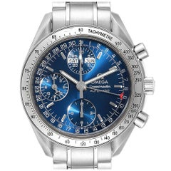 Omega Speedmaster Day-Date Blue Dial Men's Watch 3523.80.00 Card