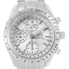 Omega Speedmaster Day Date Chrono Silver Dial Watch 3221.30.00 Box Card