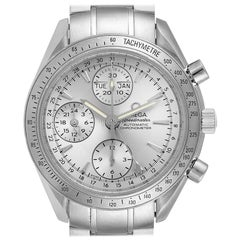 Omega Speedmaster Day Date Chrono Silver Dial Watch 3221.30.00 Card
