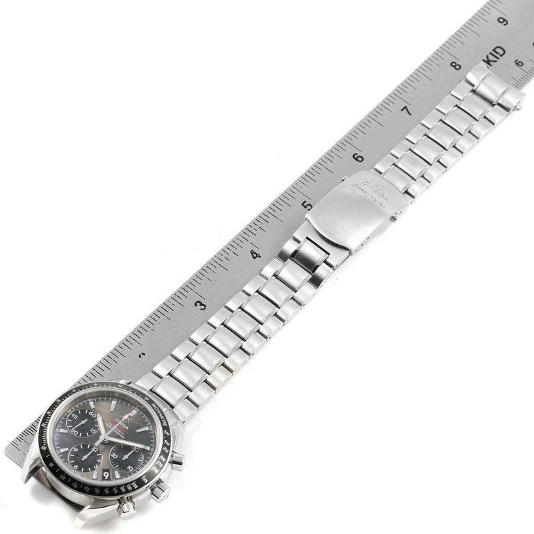 Omega Speedmaster Day Date Gray Dial Watch 323.30.40.40.06.001 Card For Sale 6