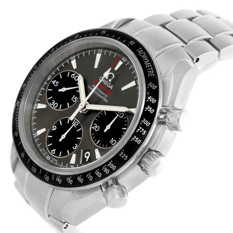 Men's Omega Speedmaster Day Date Gray Dial Watch 323.30.40.40.06.001 Card For Sale