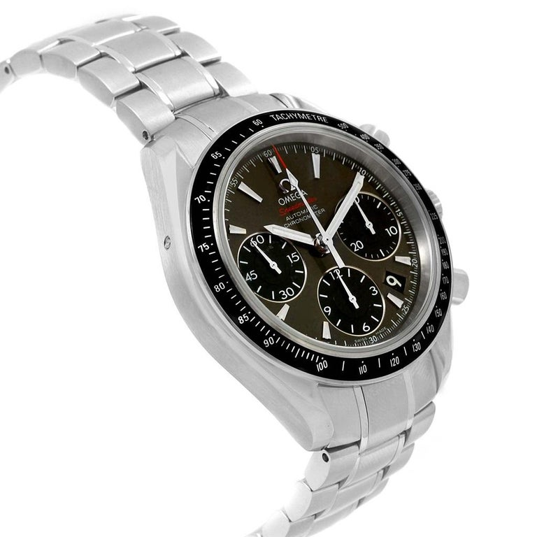 Omega Speedmaster Day Date Gray Dial Watch 323.30.40.40.06.001 Card For Sale 2
