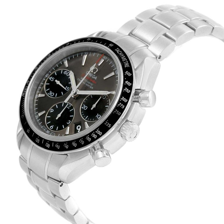 Omega Speedmaster Day Date Gray Dial Watch 323.30.40.40.06.001 Card For Sale 4