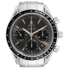 Omega Speedmaster Day Date Gray Dial Watch 323.30.40.40.06.001 Card