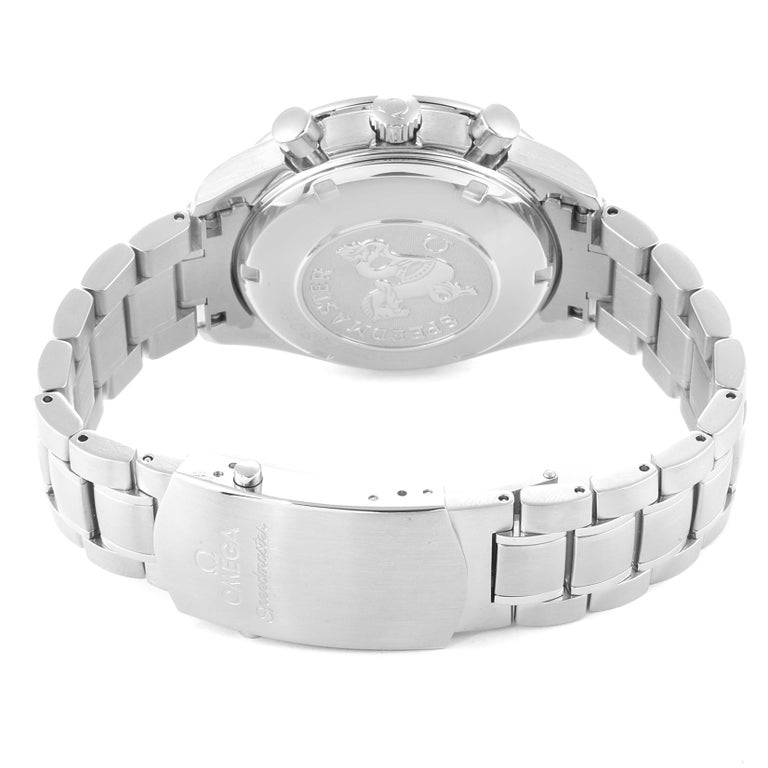 Omega Speedmaster Day-Date Silver Panda Dial Men's Watch 3211.31.00 For Sale 4