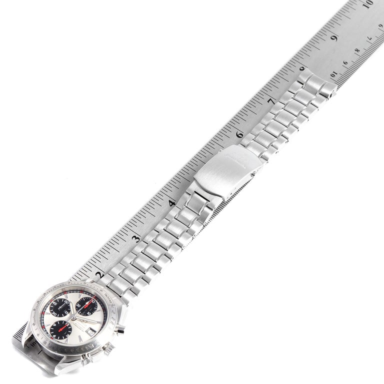 Omega Speedmaster Day-Date Silver Panda Dial Men's Watch 3211.31.00 For Sale 5